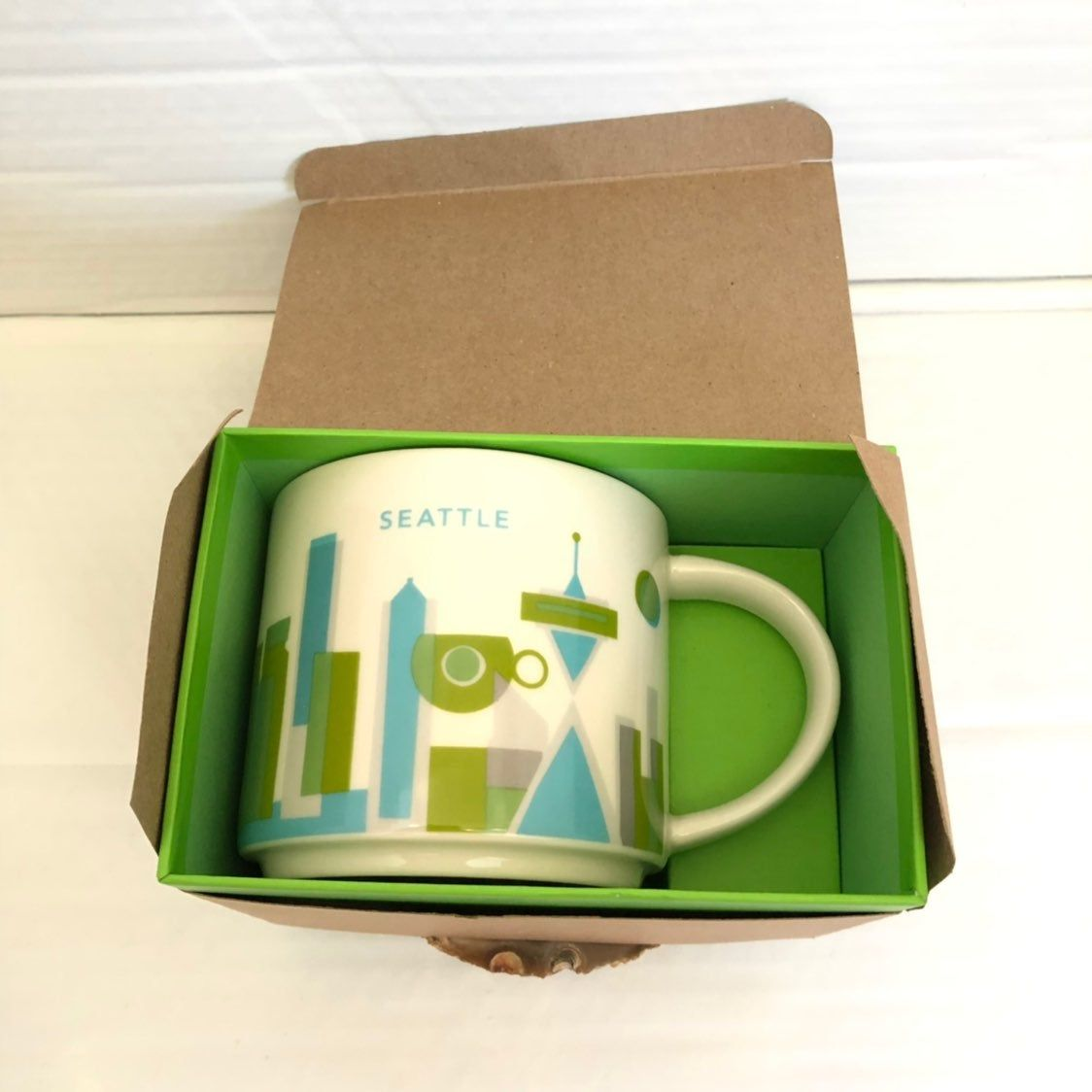 New In Box Starbucks You Are Here Collection Seattle Coffee