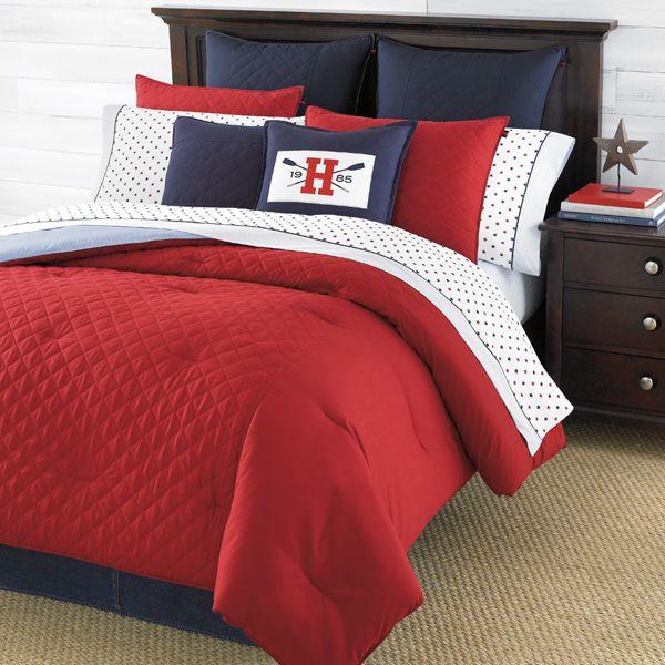 20 Red Bed Linens For Your Bedrooms Home Design Lover Red Comforter Red Bedding Tommy Hilfiger Bedding