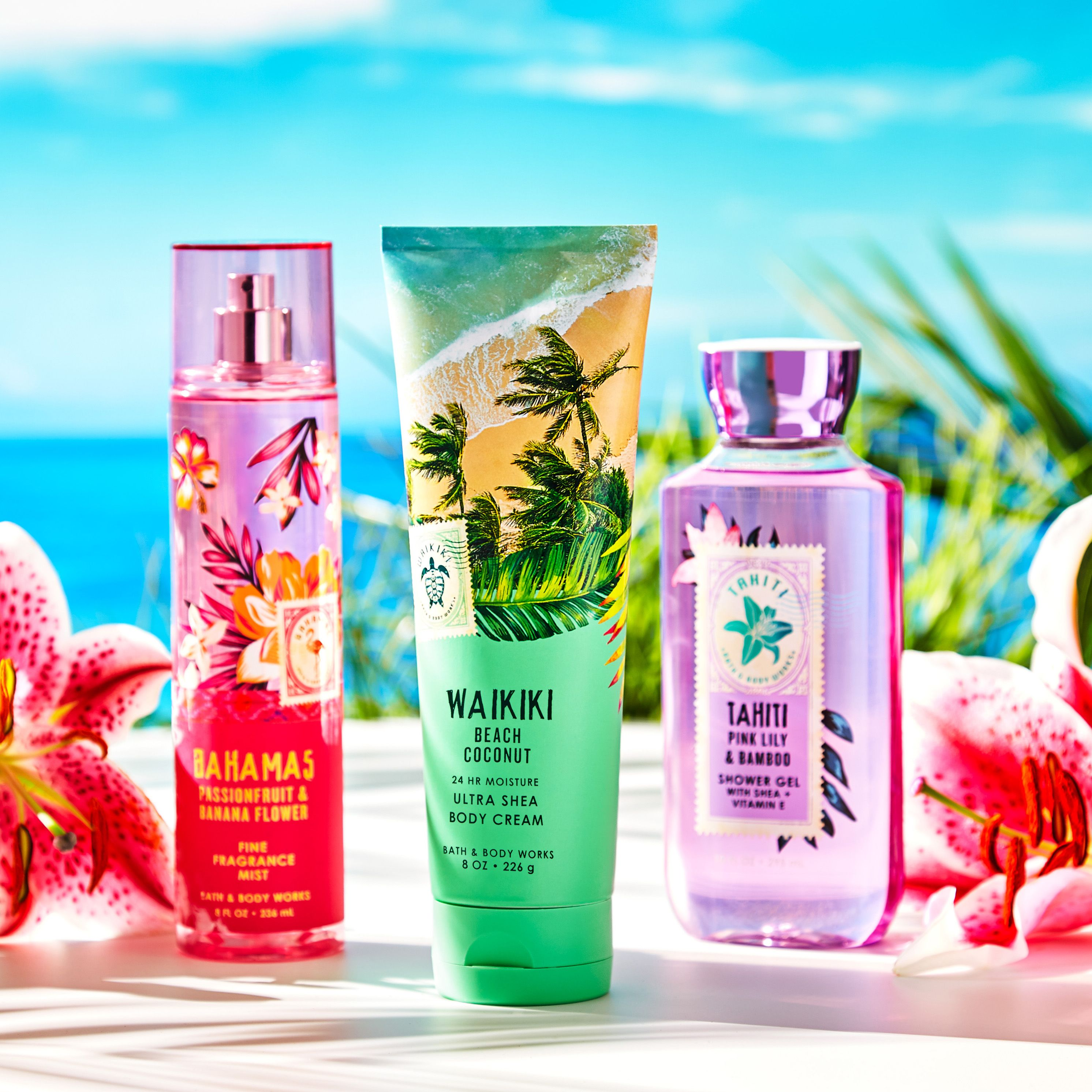 Escape To The Tropics With New Tropical Fragrances Bath N Body Works Bath And Body Body Care