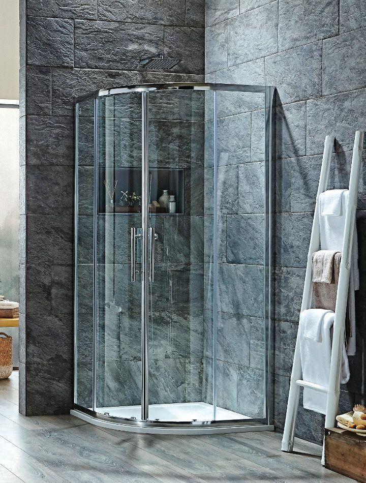 Curved Shower Enclosure - Double Door Quadrant 800 mm / 900mm ...