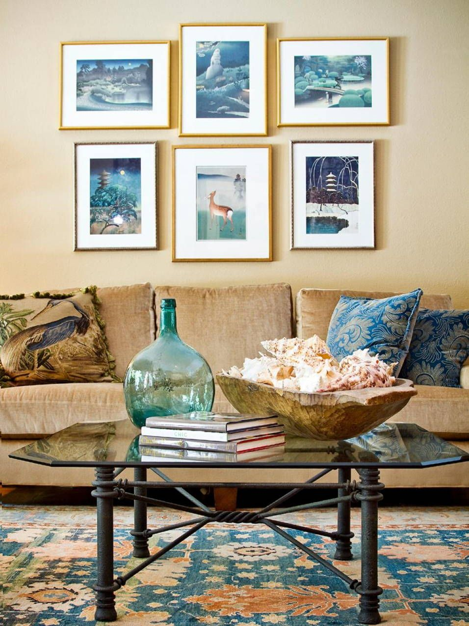 Glass Coffee Table Decorating Ideas Pictures Eclectic Living Room Living Room Designs Coastal Living Rooms [ 1275 x 956 Pixel ]