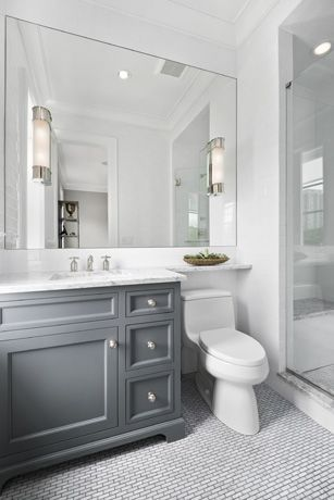 vanity with counter space extended over the toilet. not a