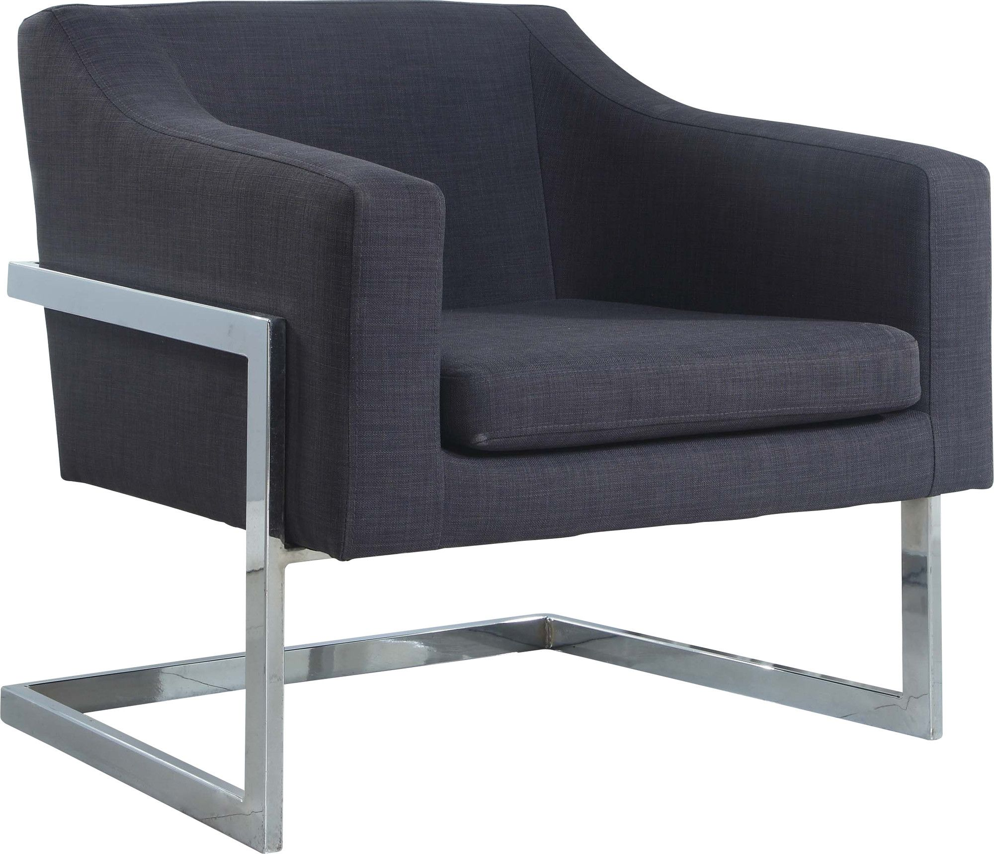 Admirable Modern Club Chair With Chrome Legs Products Modern Dailytribune Chair Design For Home Dailytribuneorg