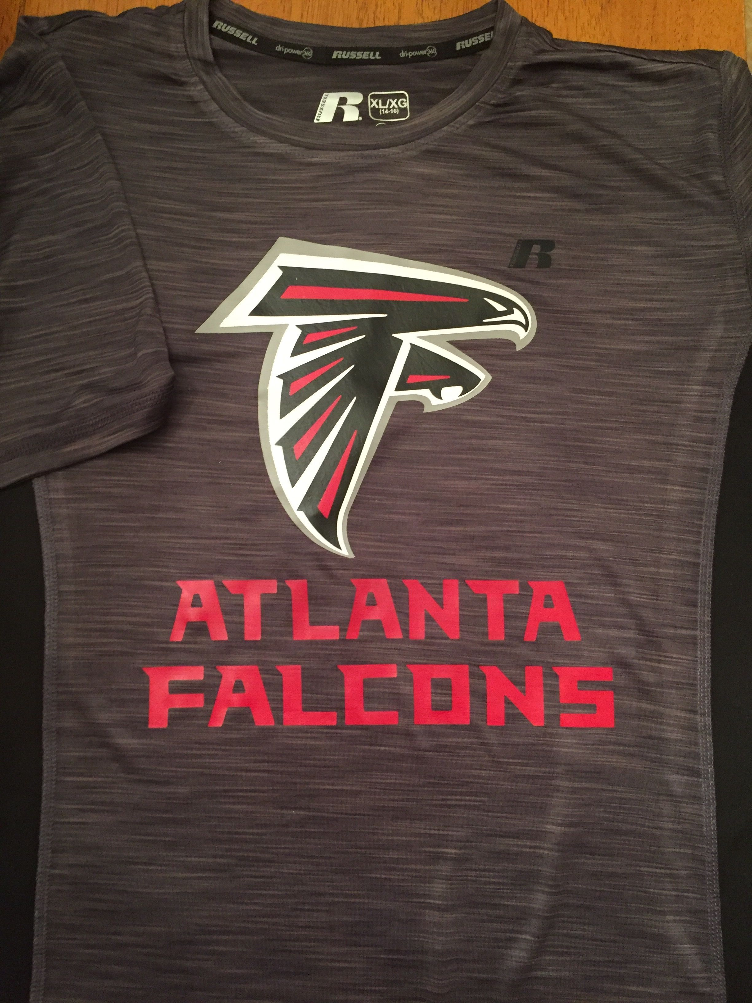 Atlanta Falcons T Shirt With Red Black Gray Silver And White Siser Easyweed Heat Transfer Vinyl Htv Atlanta Falcons T Shirt Atlanta Falcons Falcon Logo