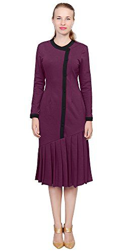 af95a54e2c9604 Marycrafts Womens Drop Waist Midi Dress Elegant Vintage F... https://