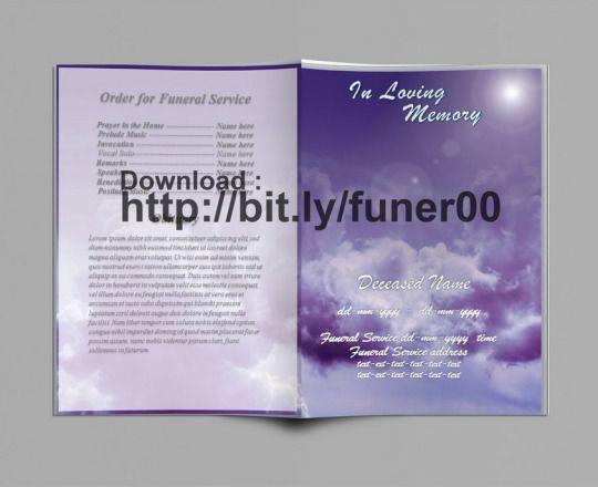 Gratis Nekrolog Skabelon | Begravelse Program Skabeloner | Pinterest ...