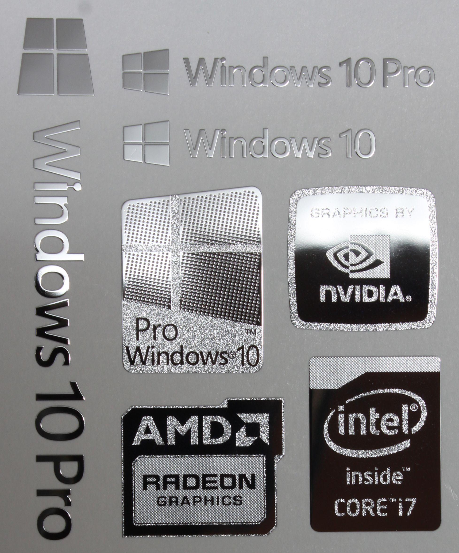 Windods 10 Sticker Windlos 10 Sticker Windows 10 Pro Oem Sticker Windozs10 Sticker  Intel Inside Xeon