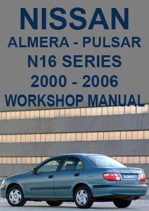 nissan pulsar almera n16 series 2000 2006 workshop manual nissan rh pinterest com 1989 Nissan Pulsar 1986 Nissan Pulsar