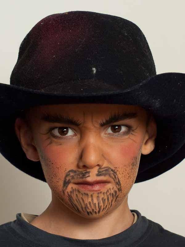 Kinderschminken Cowboy Mit Hut Schminken Kinderschminken