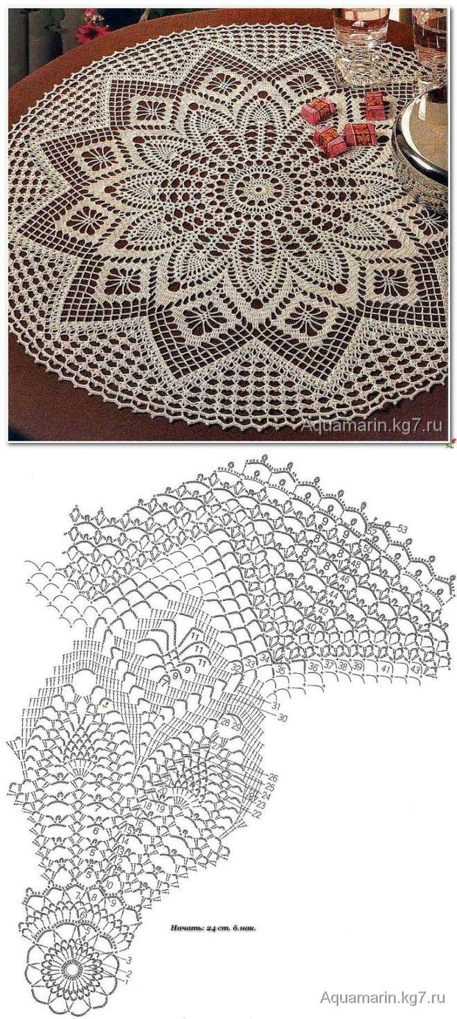 crochet lace...<3 Deniz <3 | Crochet | Pinterest | Deckchen, Runde ...