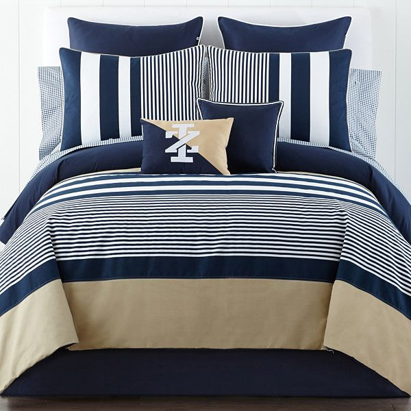 Izod® Classic Stripe Comforter Set And Accessories