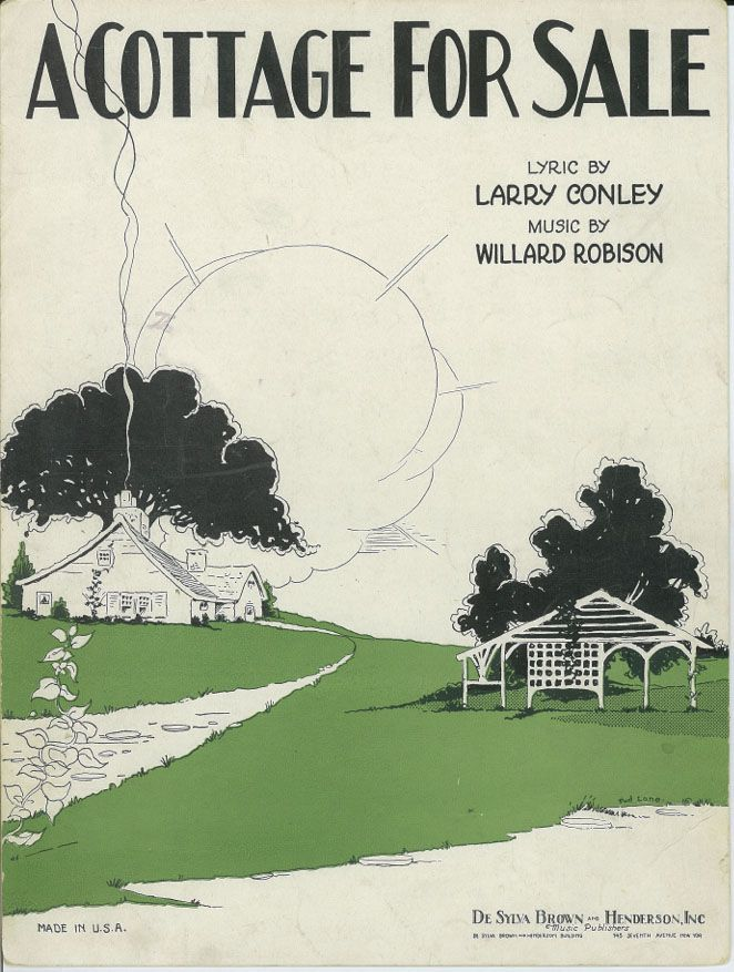 Cottage for Sale - (c) 1930 Conley, Lyrics