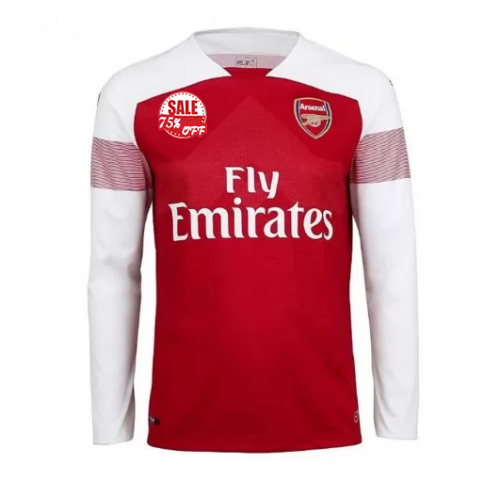 6a5ad7a37 Cheap Arsenal Long Sleeve Home Soccer Jersey Shirt 2018-19 Model  Goal63908  LS Football Kits on Goaljerseyshop.com