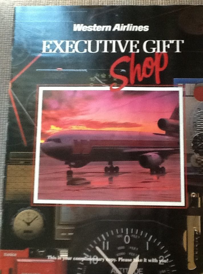 1980s Western Airlines Executive Gift Shop magazine | Americana ...