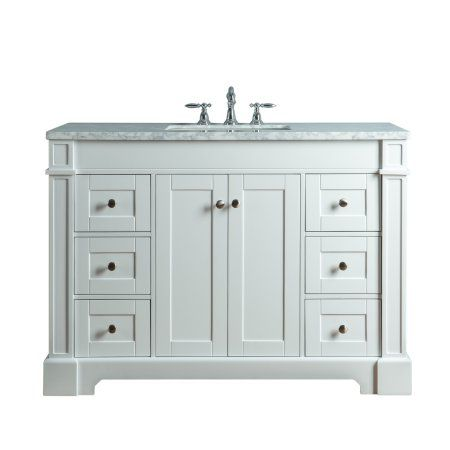 Home Improvement Single Sink Bathroom Vanity Marble Vanity Tops
