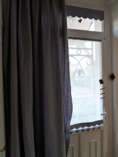 Teinture en machine et nouveaux rideaux pour lu0027entrée Maison