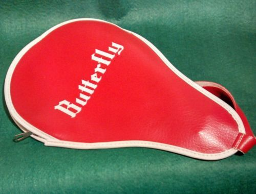 Vintage Butterfly Table Tennis Ping Pong Paddle Red Bat Case Retro Sports View More On The Lin Ping Pong Paddles Butterfly Table Tennis Vintage Butterfly