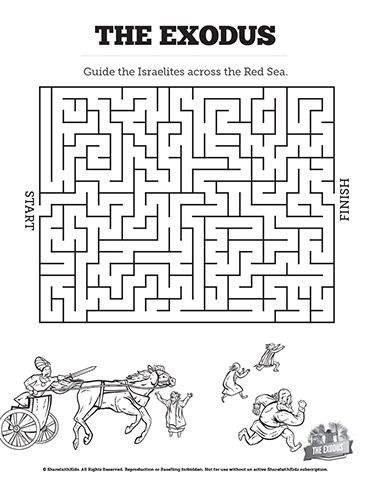 The Exodus Story Bible Mazes: With just the right amount