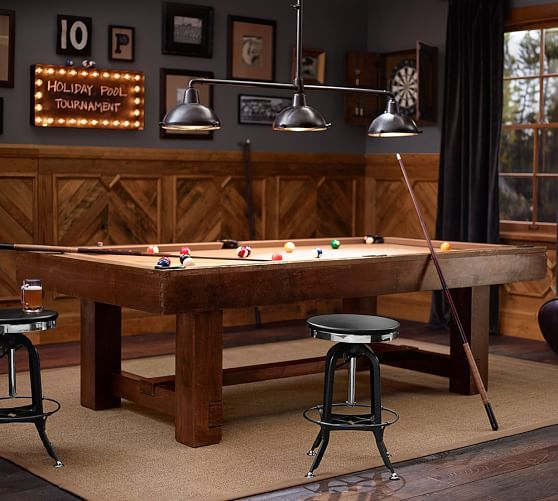 pb pool table, rustic mahogany finish with taupe felt | pool table
