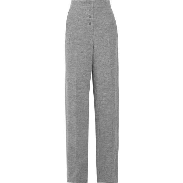 pleated straight-leg trousers - Brown Stella McCartney y75lX5WJ