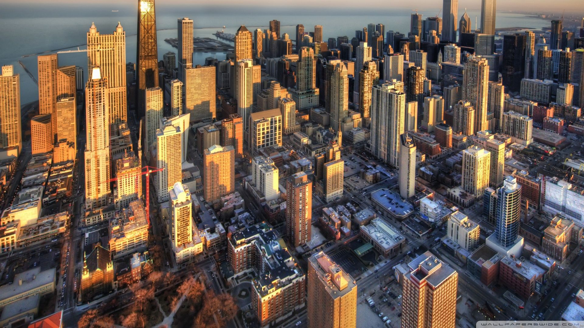 Chicago Aerial View Ultra Hd Wallpaper For 4k Uhd Widescreen Desktop Tablet Smartphone Tr In 2020 Chicago Wallpaper Aerial View Aerial Photography