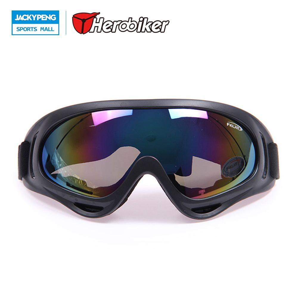 HEROBIKER X400 Motocross  Dirt Bike Off-Road Racing Goggles Ski Snowboard Windproof Glasses Eyewear 5 Color Free Shipping