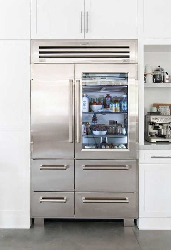 Kitchen Remodel With Sub Zero Glass Door Refrigerator Is This Side
