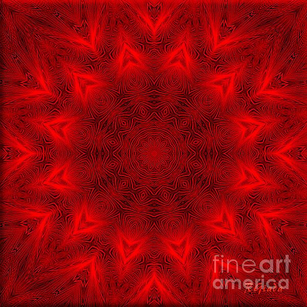 Root Chakra Mandala - Spiritual Art By Giada Rossi  #mandalaart #spirituality #red #rootchakra #giadarossi #rgiada