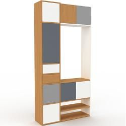 Photo of Regalsystem Eiche – Regalsystem: Schubladen in Weiß & Türen in Weiß – Hochwertige Materialien – 116
