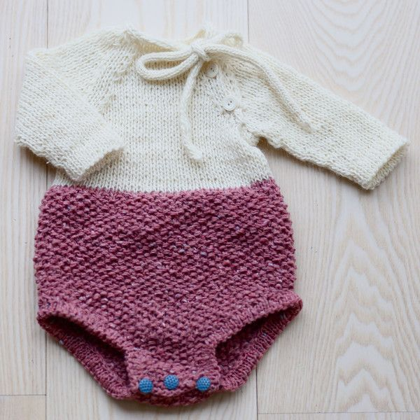 Bliss Babyromper Norwegian And English Crochet Baby Knitting