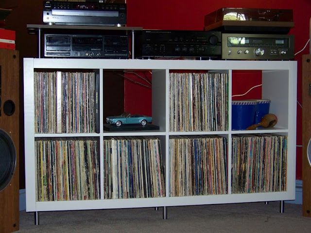 Superbe Ikea Hack For A Small Stereo Cabinet, For All My Records And Player!