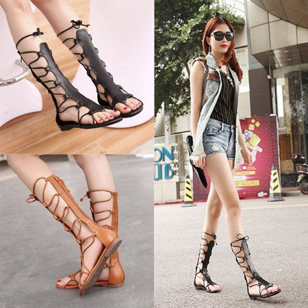 2a884efba63176 New Arrivals Fashion Women Summer Sandals Soft Knee Height Straps  Adjustable Women Sandals