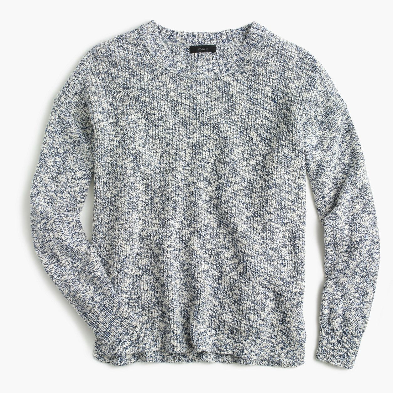 J.Crew Womens Oversized Marled Sweater In Cotton-Linen (Size XS ...