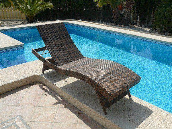 Rattan Sun Loungers Wave Lounger Modern Garden Pool