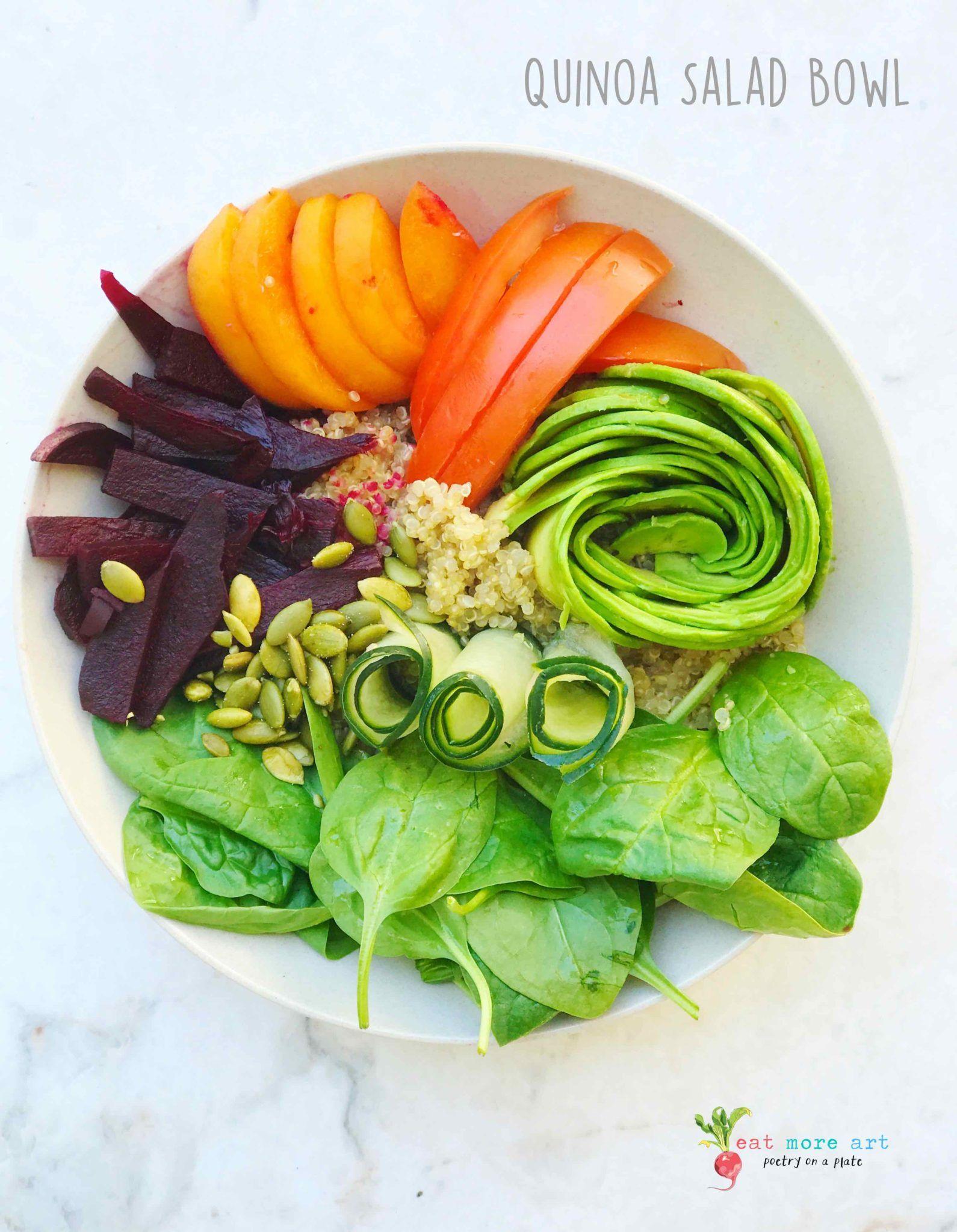 Quinoa Salad Bowl Eat More Art Recipe In 2020 Eat Quinoa Salad Vegan Quinoa Salad