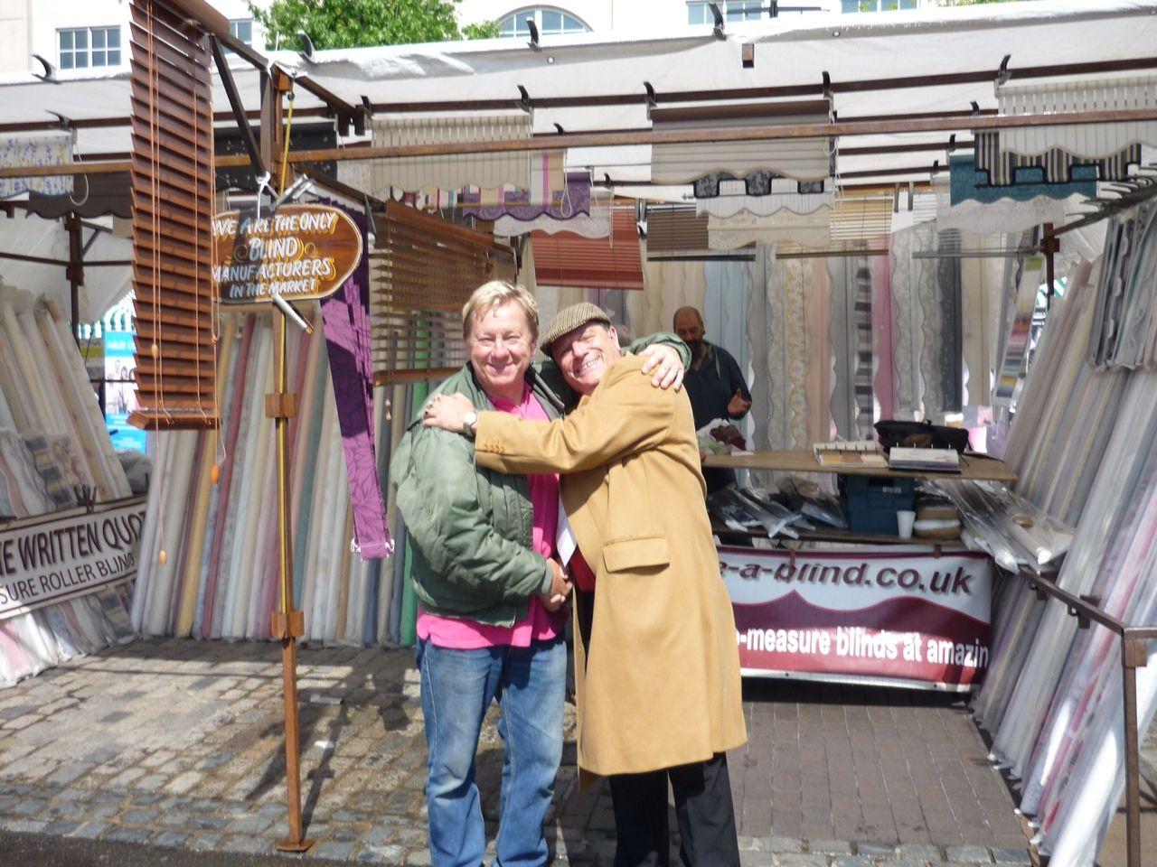 'Jim The Foam' & 'Del Boy', Romford Market Apprentice Day