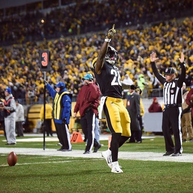Le'Veon Bell My love for this game is unbelievable...second receiving touchdown!!!  I love Steeler Nation, it's always so live