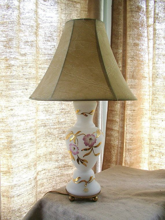 Beautiful 1940s 1950s Us Zone Germany Heavily By Ourvintagehouse 100 00 Mid Century Lamp Lamp Glass Table Lamp