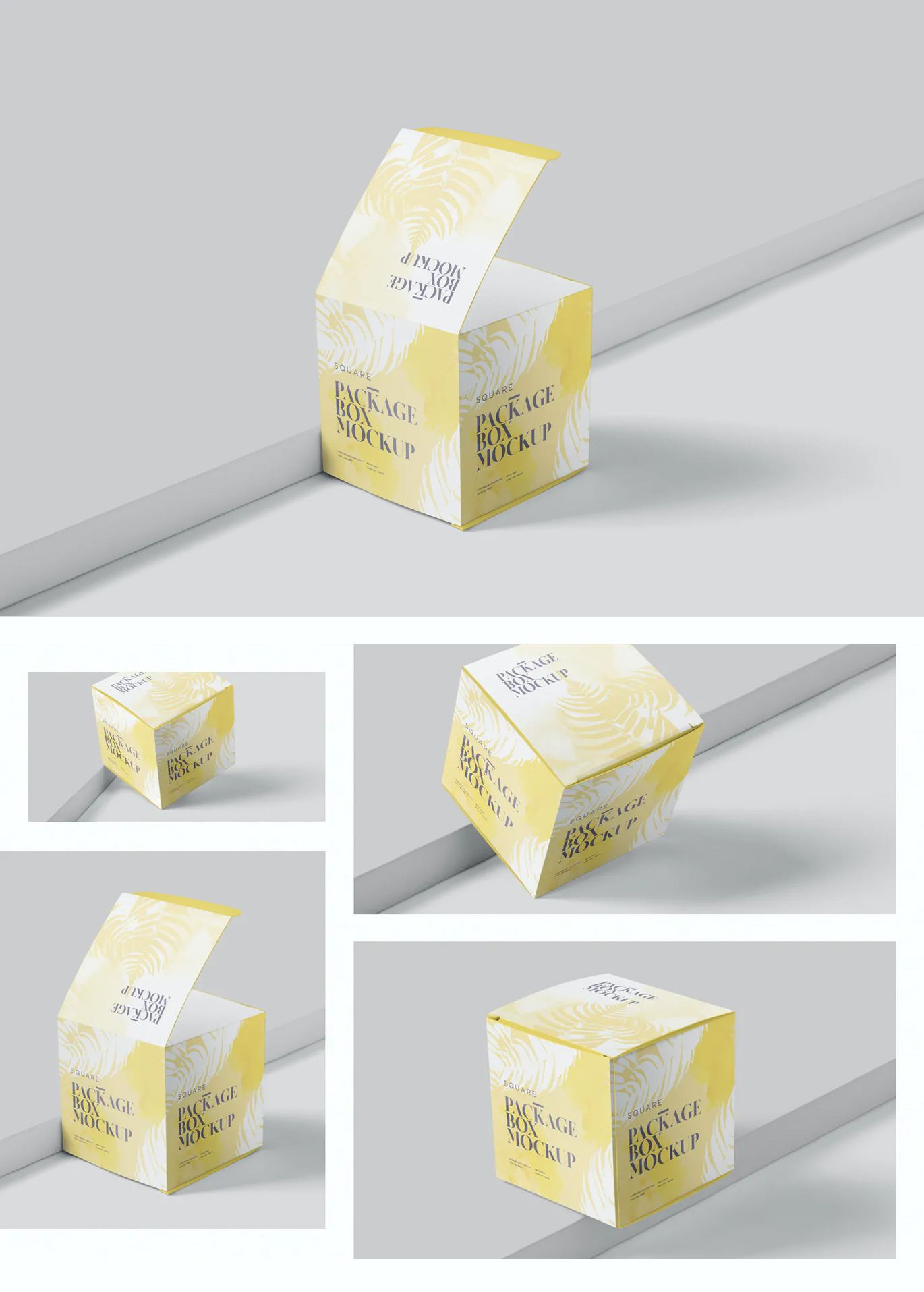 Download Package Box Mock Up Set Box Packaging Packaging Design Template