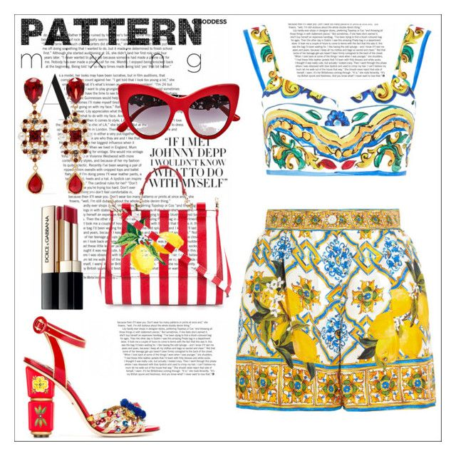 """""""COLORS"""" by adela-christina ❤ liked on Polyvore featuring Dolce&Gabbana"""
