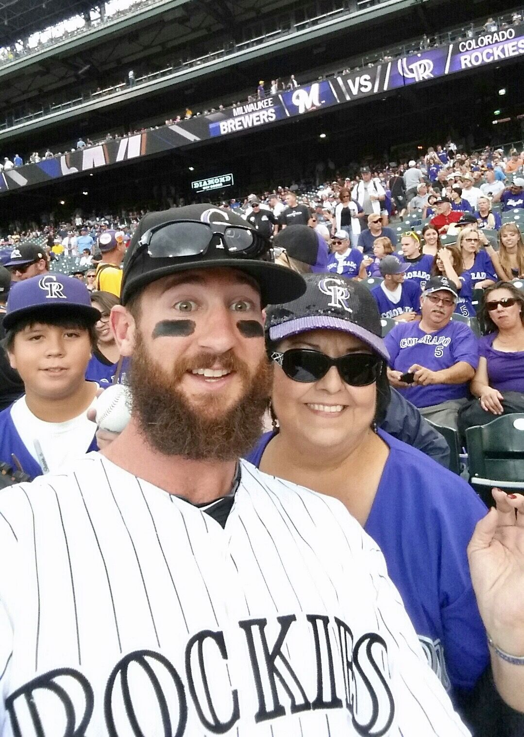 Charlie Blackmon And Rockies Fans Colorado Rockies Baseball Rockies Baseball Co Rockies