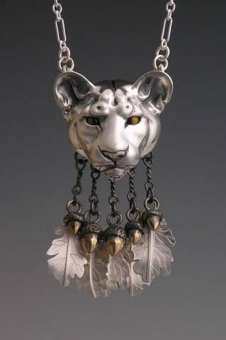 handcrafted animal totem jewelry silver mountain lion. Black Bedroom Furniture Sets. Home Design Ideas