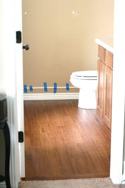 Master Bathroom Peel And Stick Wood Plank Flooring Peel