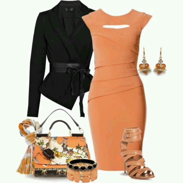 Peachy outfit....