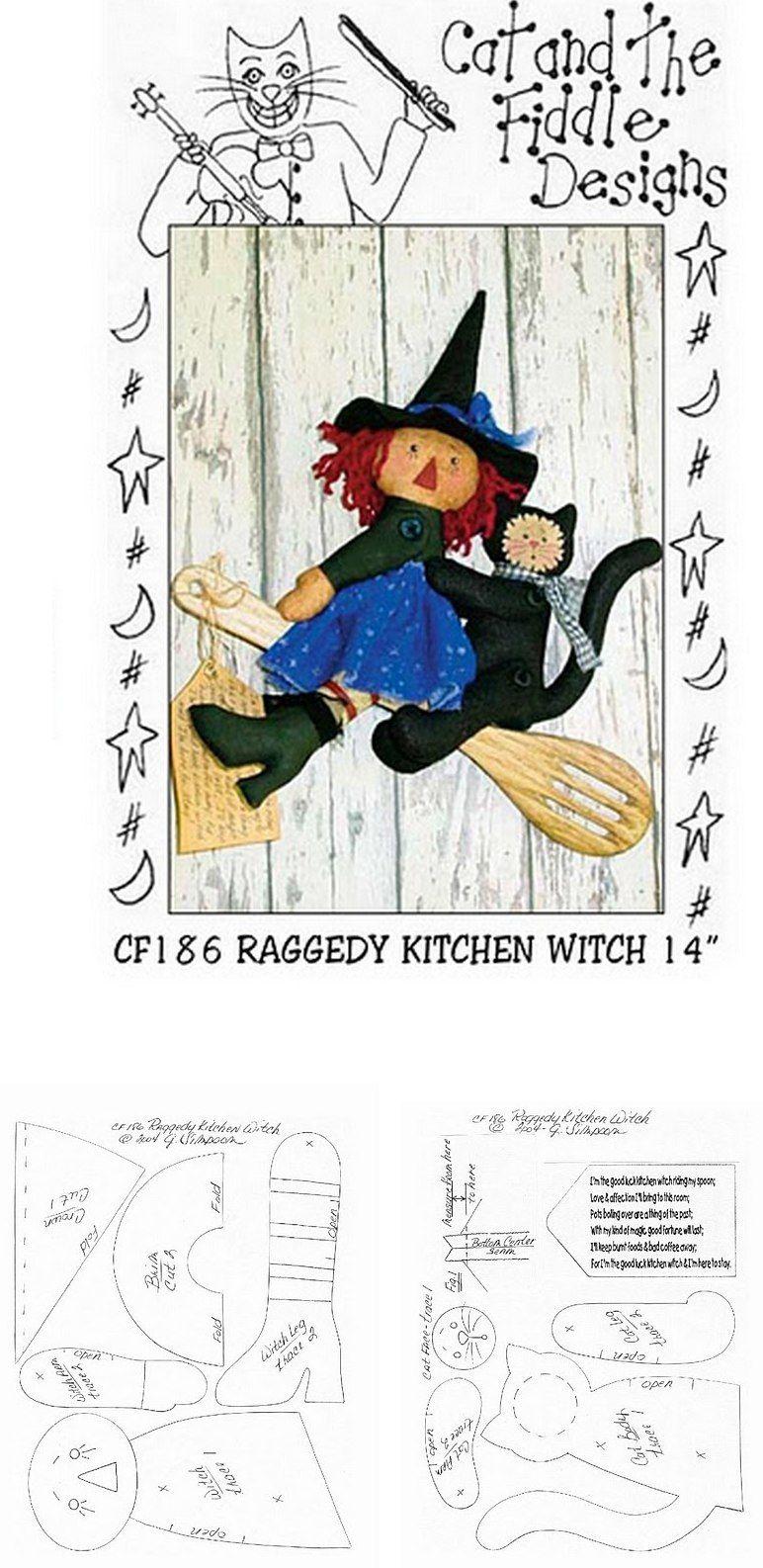 Raggedy Witch doll Pattern