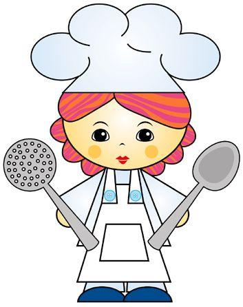 Cocinera dibujo Imagui | Fancy recipe cards, Clip art