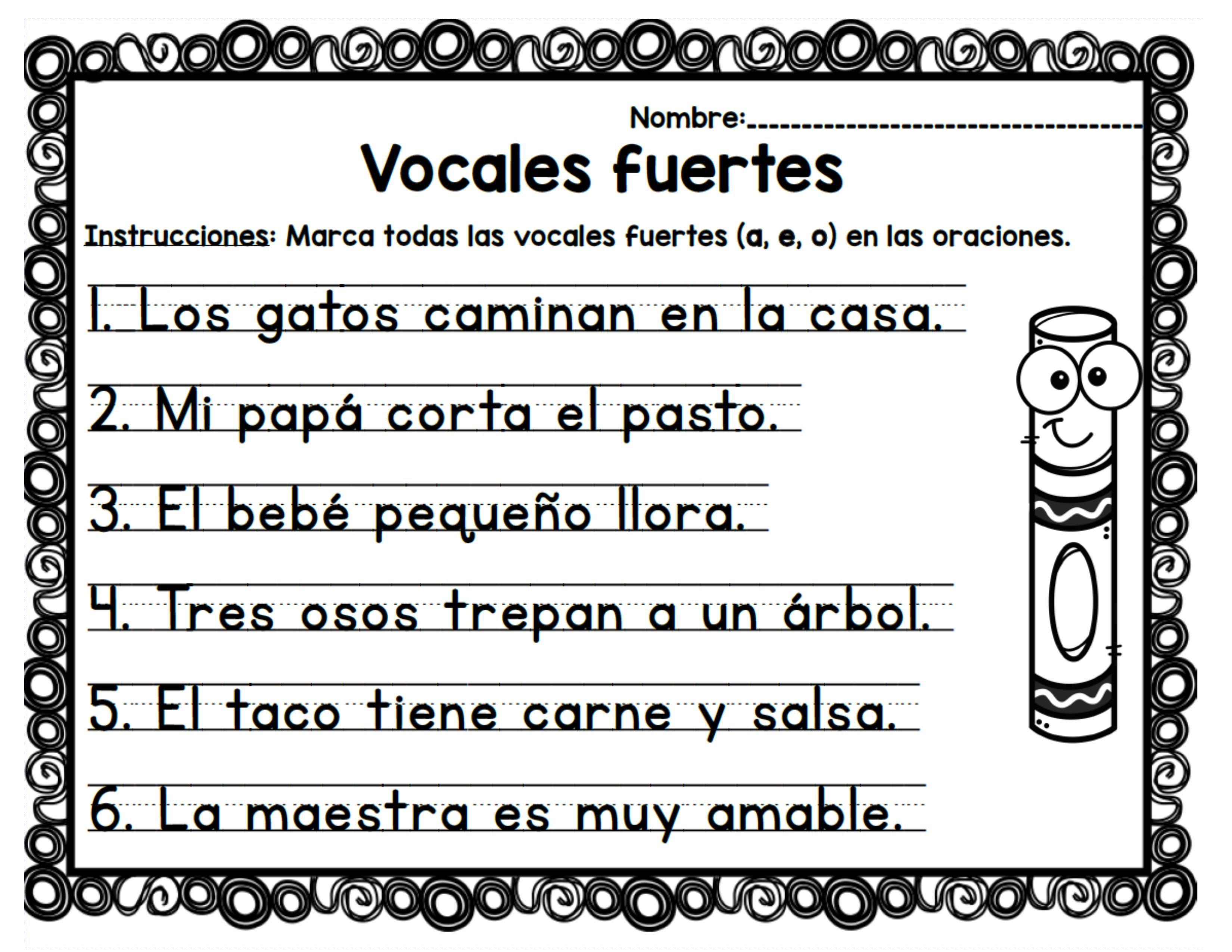 Ruleta De Vocales Eduactivas T Education Worksheets