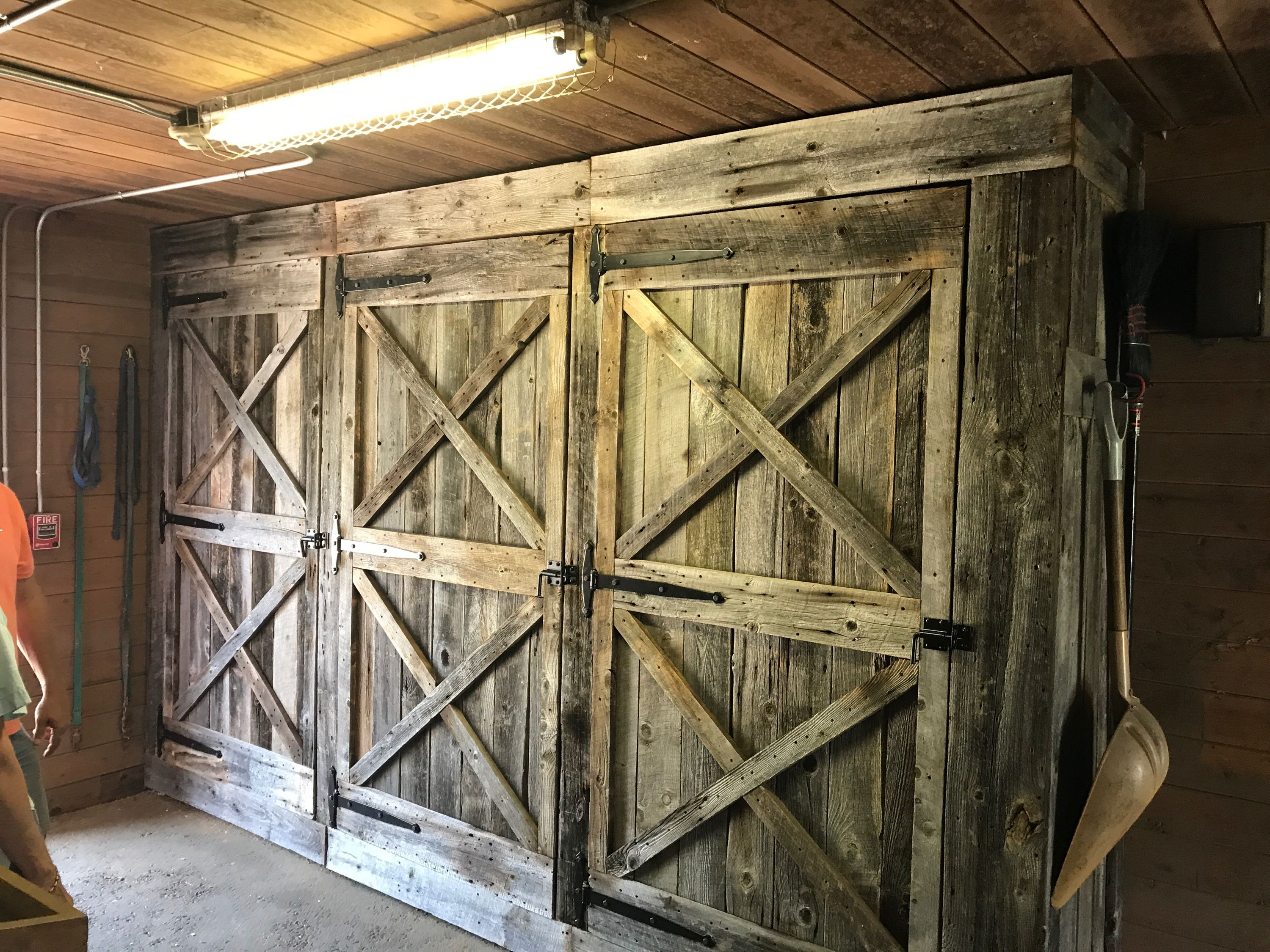 200 Year Old Maine Barn Wood Reclaimed To Rebuild Doors For Horse