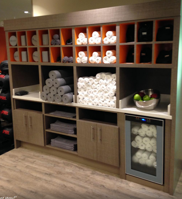 Towel storage gym pinterest towels