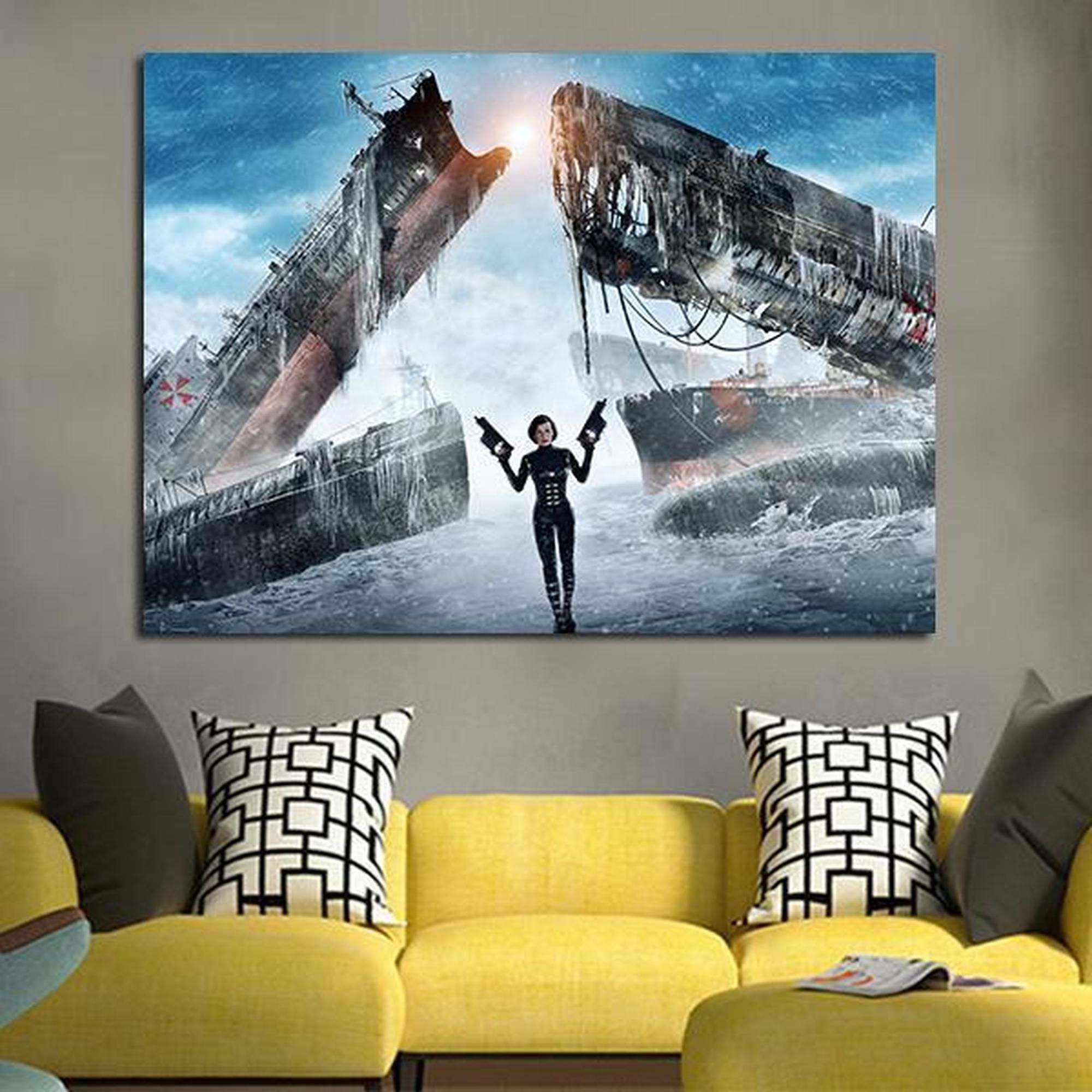 Resident Evil Alice With Two Guns Movie 1 Piece Canvas